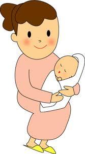 赤ちゃんとママ_イラスト